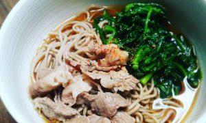 薄切り肉と乾麺は強い味方