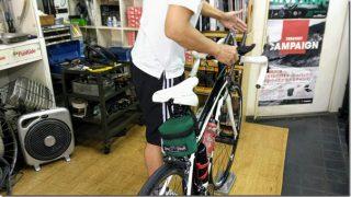 バイクに乗って自転車屋さんに。エアロバー(DHバー)をつけてもらいました【トレーニング日記】