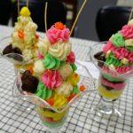 インスタばえ「もつパフェ」と栄養満点「レバーペースト」富山短大生が卒業研究。徳永食品に商品化提案!
