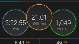 21km走で心拍数と速度を確認【トレーニング日記】
