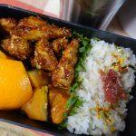 鶏むね肉のコチュジャン炒め&南瓜の醤油麹煮弁当