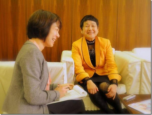 坂東真理子さんと
