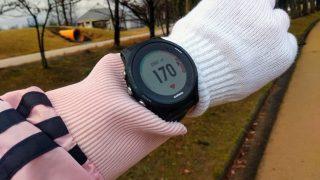 手首装着型光学式心拍計Garmin(ガーミン)の心拍数が異常に高い?! 原因は装着位置と寒さかも?